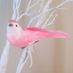11cm Clip on Bird Pink - BIR012