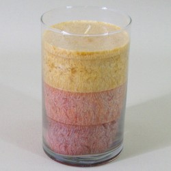 Candle Filled Glass Hurricane Vase Shades of Terracotta - CAN007 2B