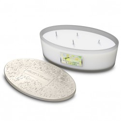 Heart and Home Ellipse 4 Wick Candles White Jasmine & Freesia 420g - HH115
