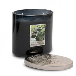 Heart and Home Ellipse Twin Wick Candle River Rock 230g - HH084