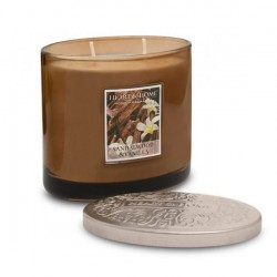 Heart and Home Ellipse Twin Wick Candle Sandalwood and Vanilla 230g - HH076