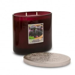 Heart and Home Ellipse Twin Wick Candle Simply Mulberry 230g - HH030