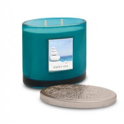 Heart and Home Ellipse Twin Wick Candle Simply Spa 230g - HH036
