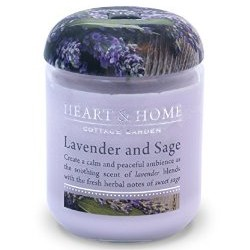 Heart and Home Fragranced Candles Lavender and Sage Small Jar 110g - HH034