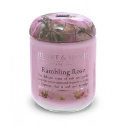 Heart and Home Fragranced Candles Rambling Rose Small Jar 110g - HH010