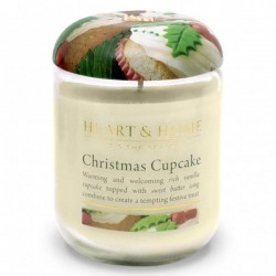 Heart and Home Fragranced Candles Christmas Cupcake Large Jar 320g - HH068