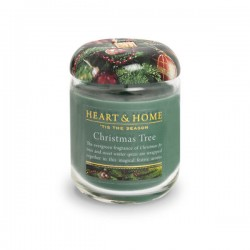 Heart and Home Fragranced Candles Christmas Tree Small Jar 110g - HH077