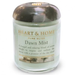 Heart and Home Fragranced Candles Dawn Mist Large Jar 320g - HH040