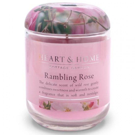 Heart and Home Fragranced Candles Rambling Rose Large Jar 320g - HH009