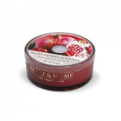 Heart and Home Candles Ruby Pomegranate Scent Cups 38g - HH108
