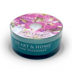 Heart and Home Candles Sweet Pea Scent Cups 38g - HH090