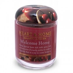 Heart and Home Fragranced Candles Welcome Home Large Jar 320g - HH017