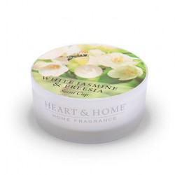 Heart and Home Candles White Jasmine & Freesia Scent Cups 38g - HH095