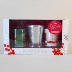 Heart and Home Christmas Candles Votives Gift Set - HH081