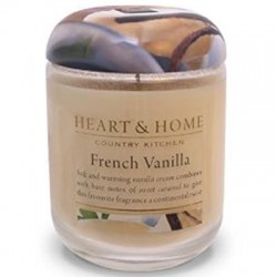 Heart and Home Fragranced Candles French Vanilla Large Jar 320g - HH029