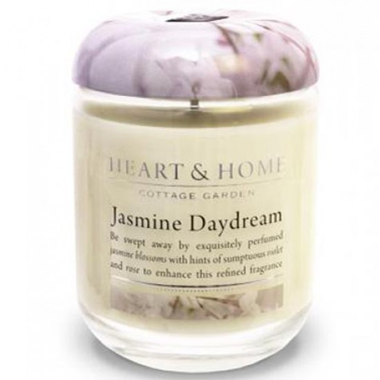 Heart and Home Fragranced Candles Jasmine Daydream Large Jar 320g - HH037