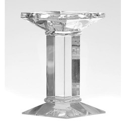 Home Store Large Crystal Candleholder 18cm - CAN019 11B