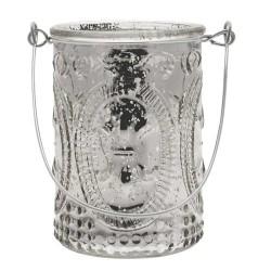 Mercury Glass Votive Candle Holders Silver - GL089