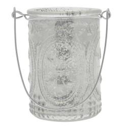 Mercury Glass Votives Candle Holder White - GL087 8B