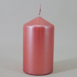 Metallic Pillar Candles Antique Pink - CAN027 2B
