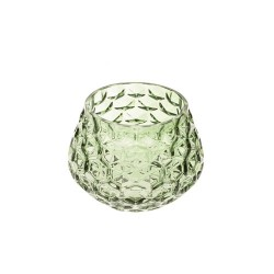 Retro Glass Tea Light Holder Green - GL128 5E