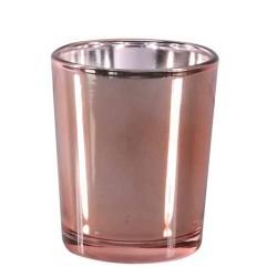 Rose Gold Glass Votive Candle Holder - GL031 8B