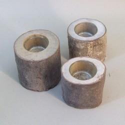 Rustic Birch Log Tea Light Holders Pack of 3 - RUS004