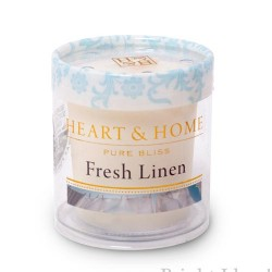 Heart and Home Fragranced Candles Fresh Linen Votive - HH006