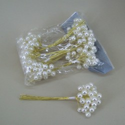10mm Pearl Branches Cream and Gold - CRY031