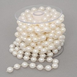 10mm Ivory Pearls on 5m Roll - PEA100