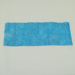 24 Row Diamond Web Glitter Sheets Aqua - CRY033