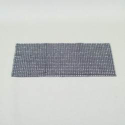 24 Row Diamond Web Glitter Sheets Black and Silver - CRY034