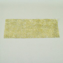 24 Row Diamond Web Glitter Sheets Gold - CRY032