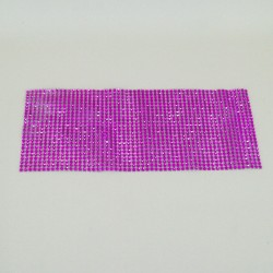 24 Row Diamond Web Glitter Sheets Hot Pink - CRY035