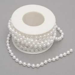 6mm White Pearls on 5m Roll - PEA103