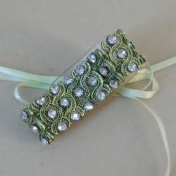 Beatice Wrist Corsage Bracelet Green - WCOR134