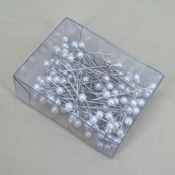 Pearl Corsage Pins (box of 144 x 4mm pearls) - CRY025