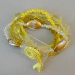 Pot Pourri Yellow Wrist Corsage Bracelet - WCOR127