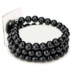 Avery Black Wrist Corsage Bracelet - WCOR122