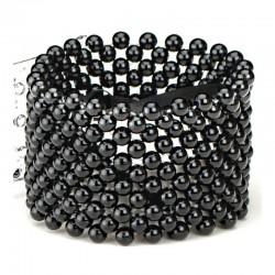 Classic Black Wrist Corsage Bracelet - WCOR106