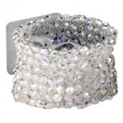 Classic Clear Iridescent Wrist Corsage Bracelet - WCOR107