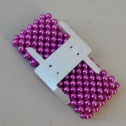Classic Purple Wrist Corsage Bracelet with Metal Clip - WCOR136