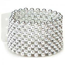 Classic Silver Wrist Corsage Bracelet - WCOR105