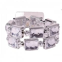 Dazzle Silver Wrist Corsage Bracelet - WCOR128