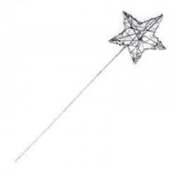 Glitter Star Fairy Wand Silver - WAN004