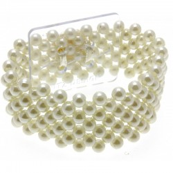 Narrow Classic Cream Wrist Corsage Bracelet - WCOR102