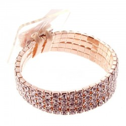 Rock Candy Rose Gold Wrist Corsage Bracelet - WCOR115