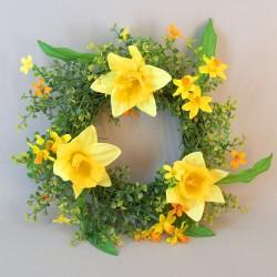 Easter Decorations | Daffodil Wreath 35cm - EAS009 D1