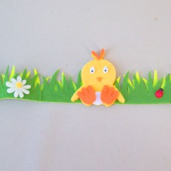 Easter Decorations Egg and Ribbon Garland 150cm - EAS007