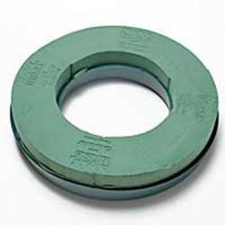 12inch Oasis Wet Foam Wreath Ring Plastic Back - FS041